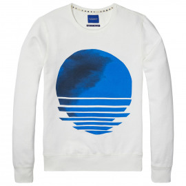 Concept print sweater