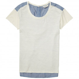 T-shirt with woven back