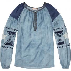 Sheer tunic top