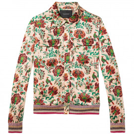 Silk shirt jacket