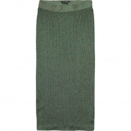 Rib knitted midi skirt