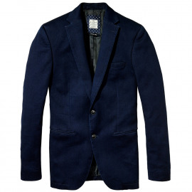 Tailored indigo blazer
