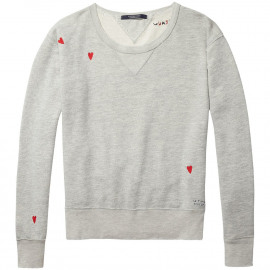 Loose embroidered sweater