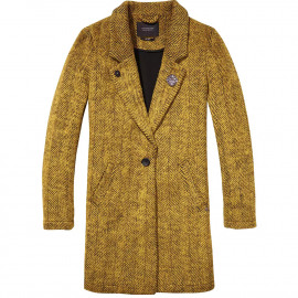 Bonded wool coat