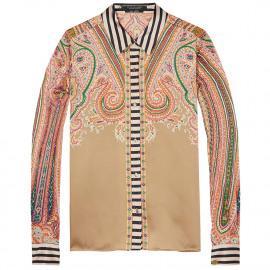 Silky print blouse