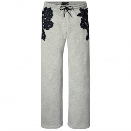 Lace sweat pants