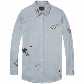Embroidered star shirt