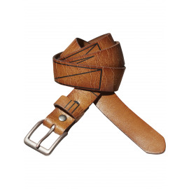 Leather belt with metal studs