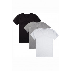 Stretch vn tee ss 3pack (991)