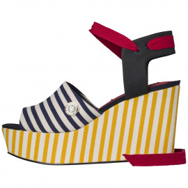 Gigi Hadid Stripey Wedges