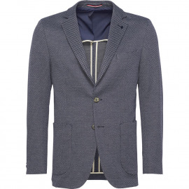 Cotton blend fitted blazer