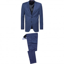 Virgin wool fitted suit