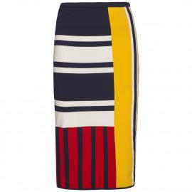 Gigi Hadid Patchwork Skirt