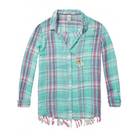 FRINGED CHECK SHIRT