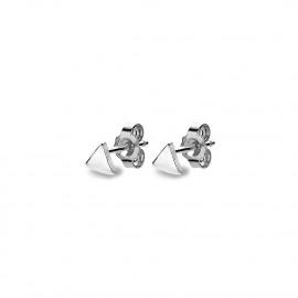 oorbellen in zilver, driehoekje