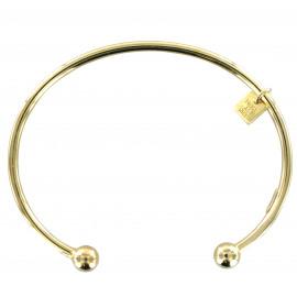 Rigide armband in 18kt verguld zilver, bollenmotief
