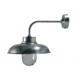 Wall Lamp - old silver - curved - max 40W - E27