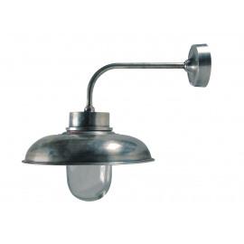 Wandlamp - glas - gebogen - oud zilver (=2 dozen) - max 40W - E27