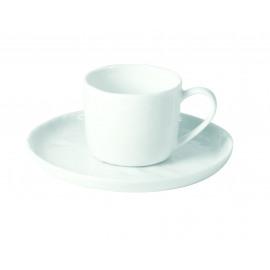 PORCELINO WHITE - tas & schotel - porselein - DIA 14 x H 6 cm
