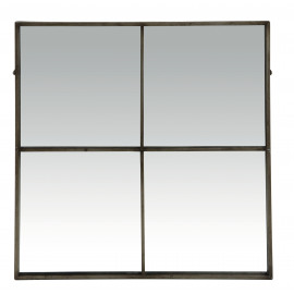 PALACE - miror 4 partitions - antic silver - 80x3,5x80cm