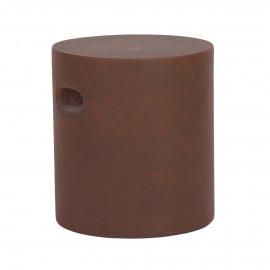 FIBRE - tabouret - rond - fiberflex - DIA 37 x H 40 cm - rouille