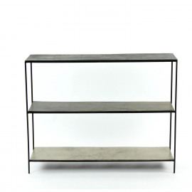 GRAPH METAL - console - 3 shelf - iron - aluminium - 90 x 25 x 70 cm