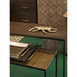 GRAPH METAL - nesting tafels - S/2 - ijzer - aluminium - 80/70 x 22/21 x 60/50 cm