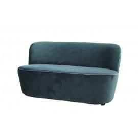 HASSELT - 2-seater - velvet - balsam green - 133x73,5xh71,5 cm