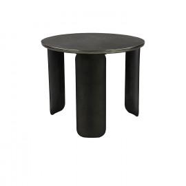ICONIC-Koffietafel-Ijzer-Aluminium-Zilver ant.-S-dia 50 x 42 cm