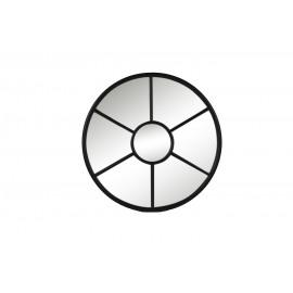 PALACE - Spiegel - rond - metaal - zwart mat-  dia 85 cm
