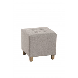 KELLY - pouf carré - coton/poly - chiné -  35x35x35 cm