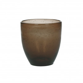 VICTOR - tumbler - glass - DIA 8,5 x H 9,5 cm - brown