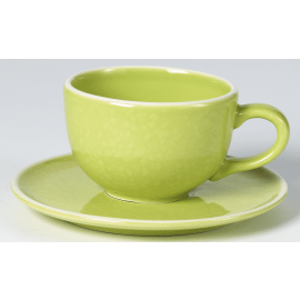SIXTIES cup + saucer - lime