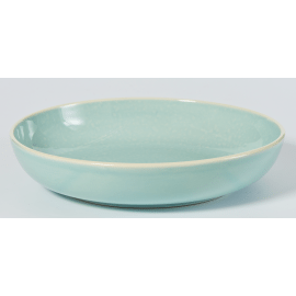 SIXTIES vegetable plate - aqua H 6 x ø 26 cm