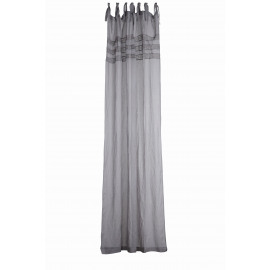 LOUISE Curtain, Linen/ lace cotton GREY 280 x 140 cm