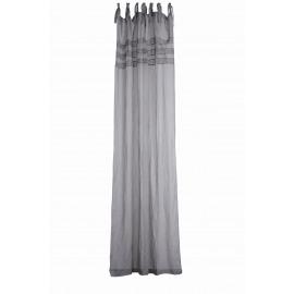 LOUISE rideau, en lin / coton dentelle GRIS 280 x 140 cm