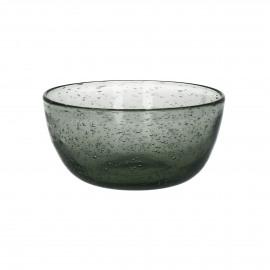 VICTOR - Kom - Bubble glas - Rook - Ø 12 x 5,5 cm