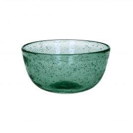 VICTOR - kom - glas - DIA 12 x H 5,5 cm - teal