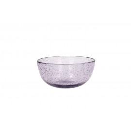 VICTOR - Kom - Bubble glas - Lavendel - Ø 12 x 5,5 cm