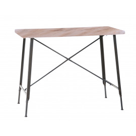 USINE Table haute en metal 120 x 65 x H 92 cm