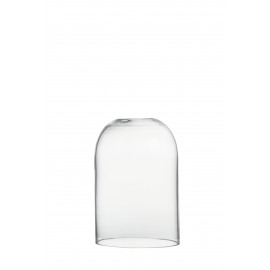 DOME - open dome - glass - CLEAR - L - D15xH22,5 cm