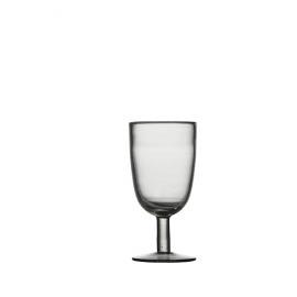 MOUSTIERS Wine glass - Blown glass - Smoke - Capacity 280ML