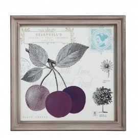 VERGER - cherry frame - border ant smoke - 36x36x3 cm