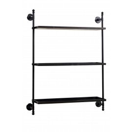 STUDIO - wall rack 3 shelves - metal - 86x21x106