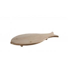 CRETOS - vis schotel -  L - mango hout - L 56 x W 25 x H 5 cm