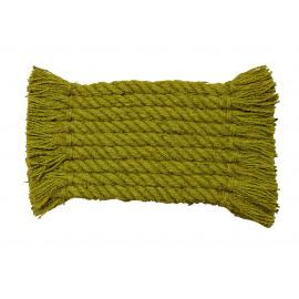 CORDAGE - deurmat - kokos touw - limoen - 36x75 cm