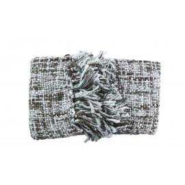ZEPE - blanket grijs - 20% wool/57% acryl -3col- 125x150