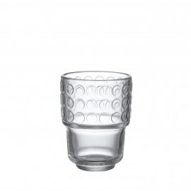 DOTS - Tumbler w/ dots 25cl - pressed glass - D7,5xH10