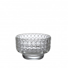 DOTS - bowl w/ dots 32,5cl - pressed glass - D10,5xH7