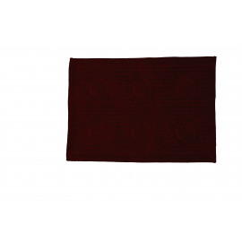 BONG - placemat - fluweel/katoen - bodeaux - 35x48 cm